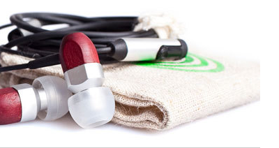 Eco-friendly earphones by thinksound