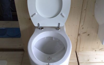 Supporting the NoMix toilet