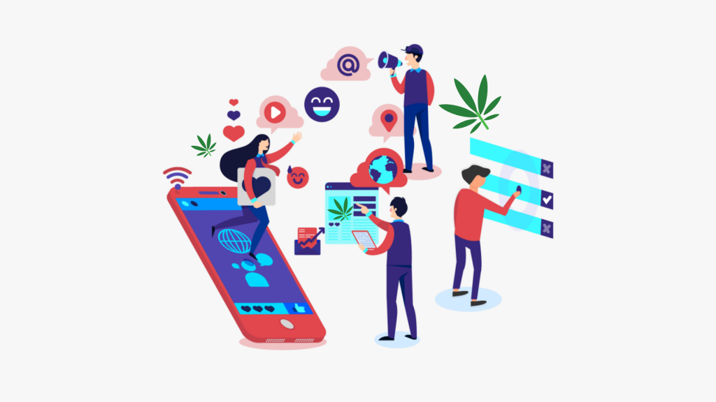 Cannabis business social networks