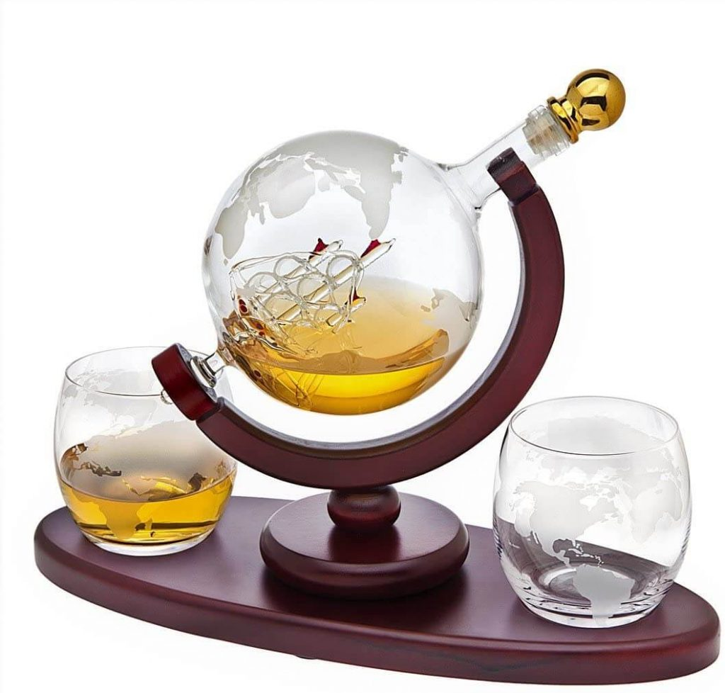 chemistry gifts - Whiskey Decanter Globe Set